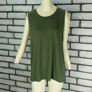 New Alo Womens High Low Muscle Tank Green Size L